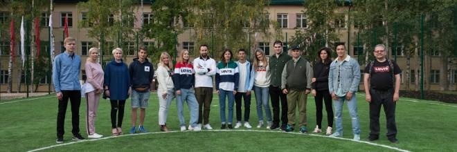 Торжественное открытие футбольного поля для сирот школы-интерната №1 г. Кирова